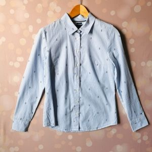 TOMMY Hilfiger S button blue white small…